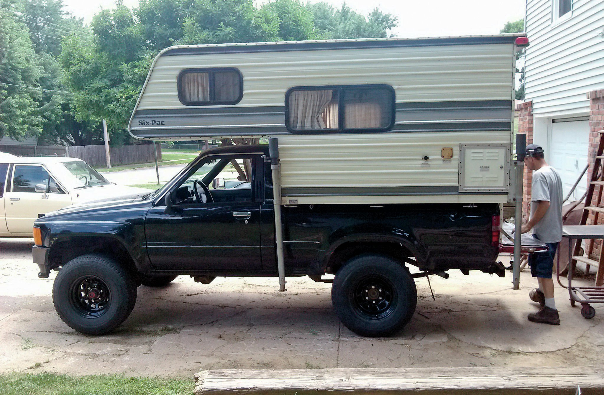 custom toyota pickup with camper