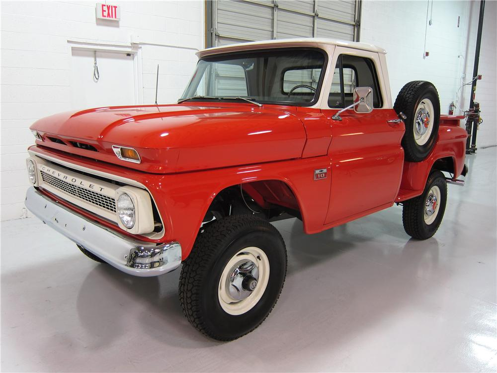 1966 CHEVROLET HALF TON 4X4 PICKUP lot 855 2014 barrett jackson
