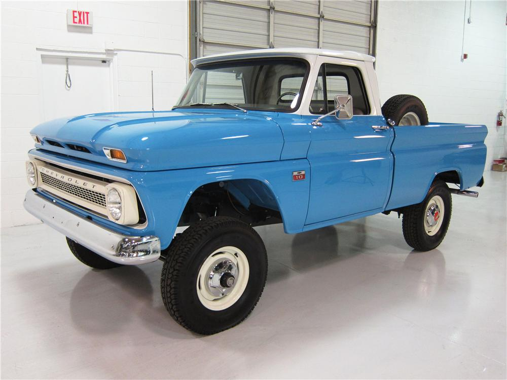 1966 CHEVROLET 1 2 TON 4X4 PICKUP lot 854 2014 barrett jackson