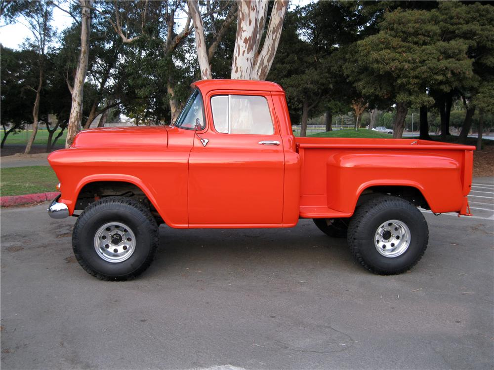 1956 Chevy 3100 4x4 profile