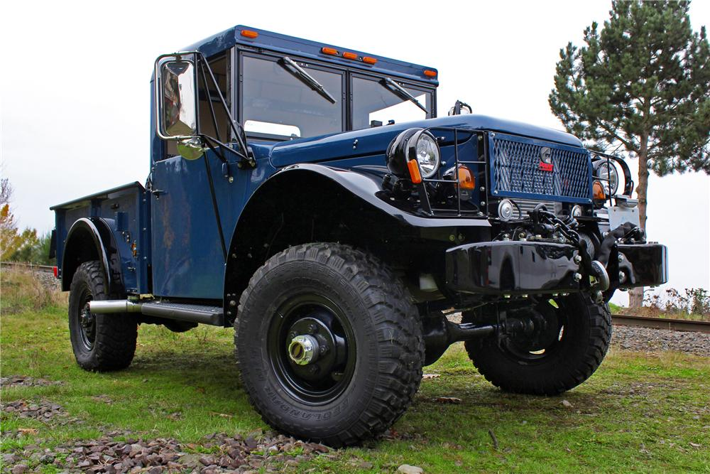 1962 Dodge Power Wagon M37B1 Pickup front three quarter
