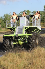 mud girls driving custom mud buggy