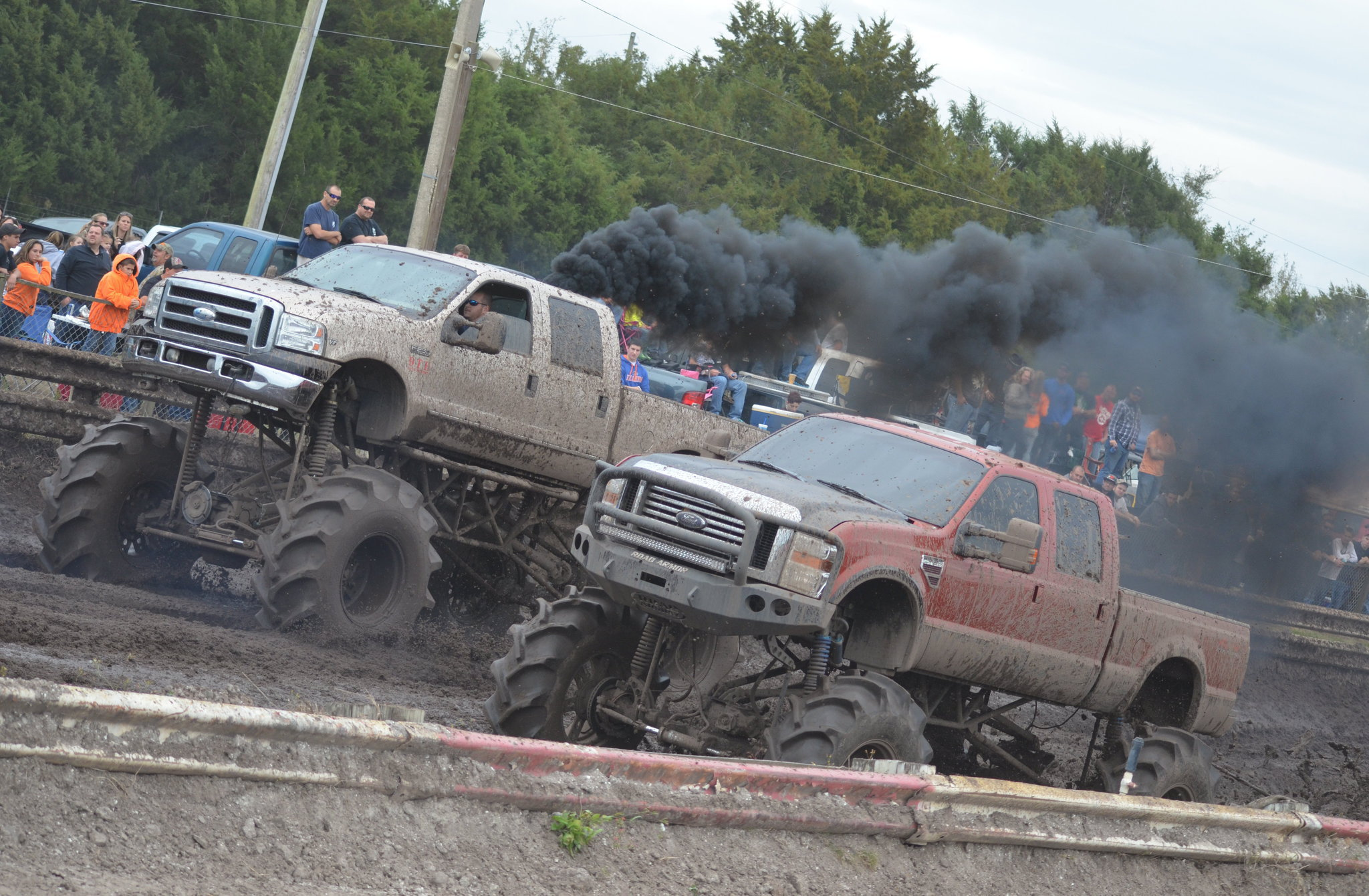 ford super duty mud trucks racing