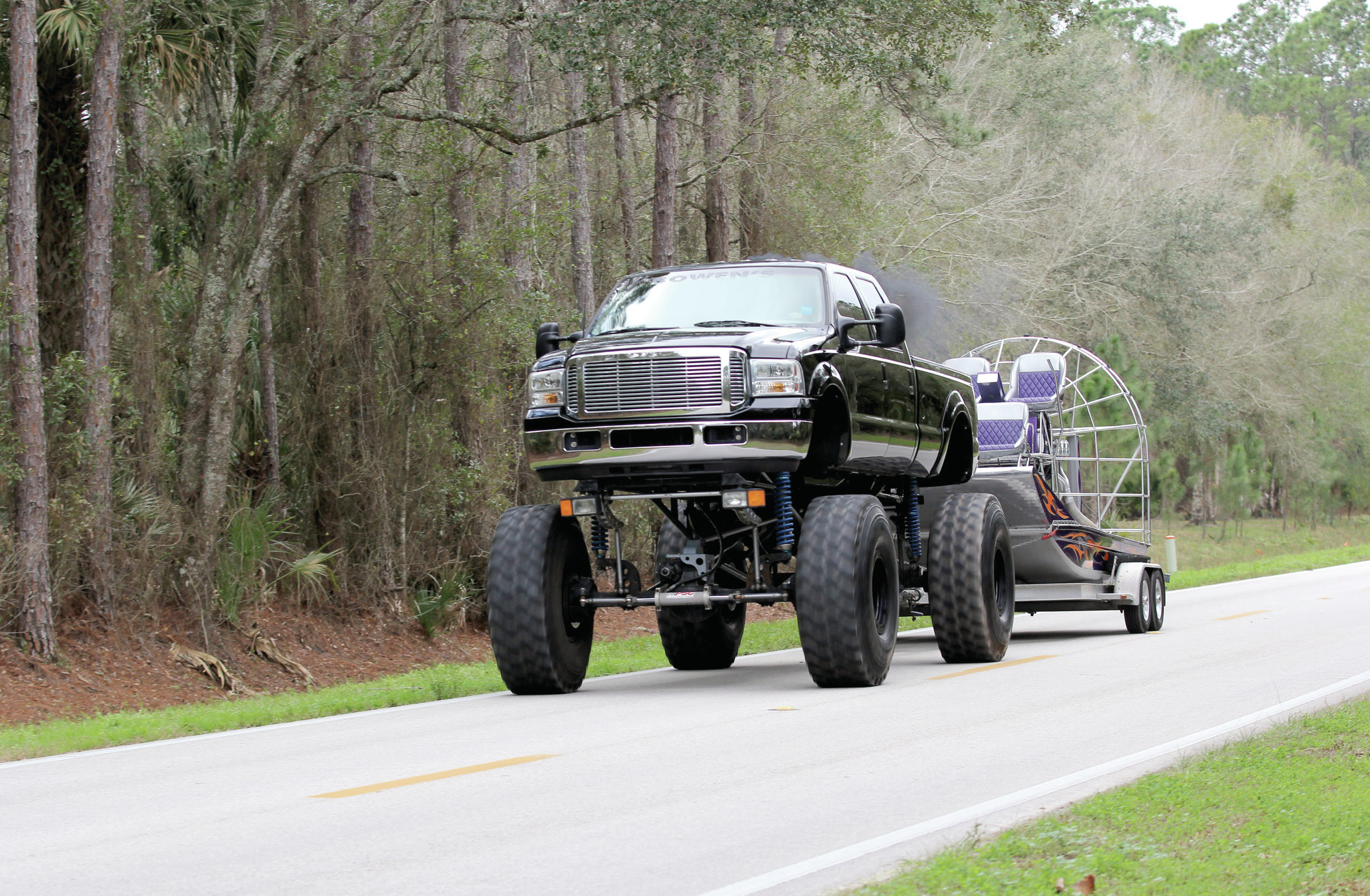 1999 ford f 350 towing airboat