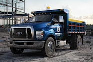 2016 Ford F 650 Super duty dump truck front view