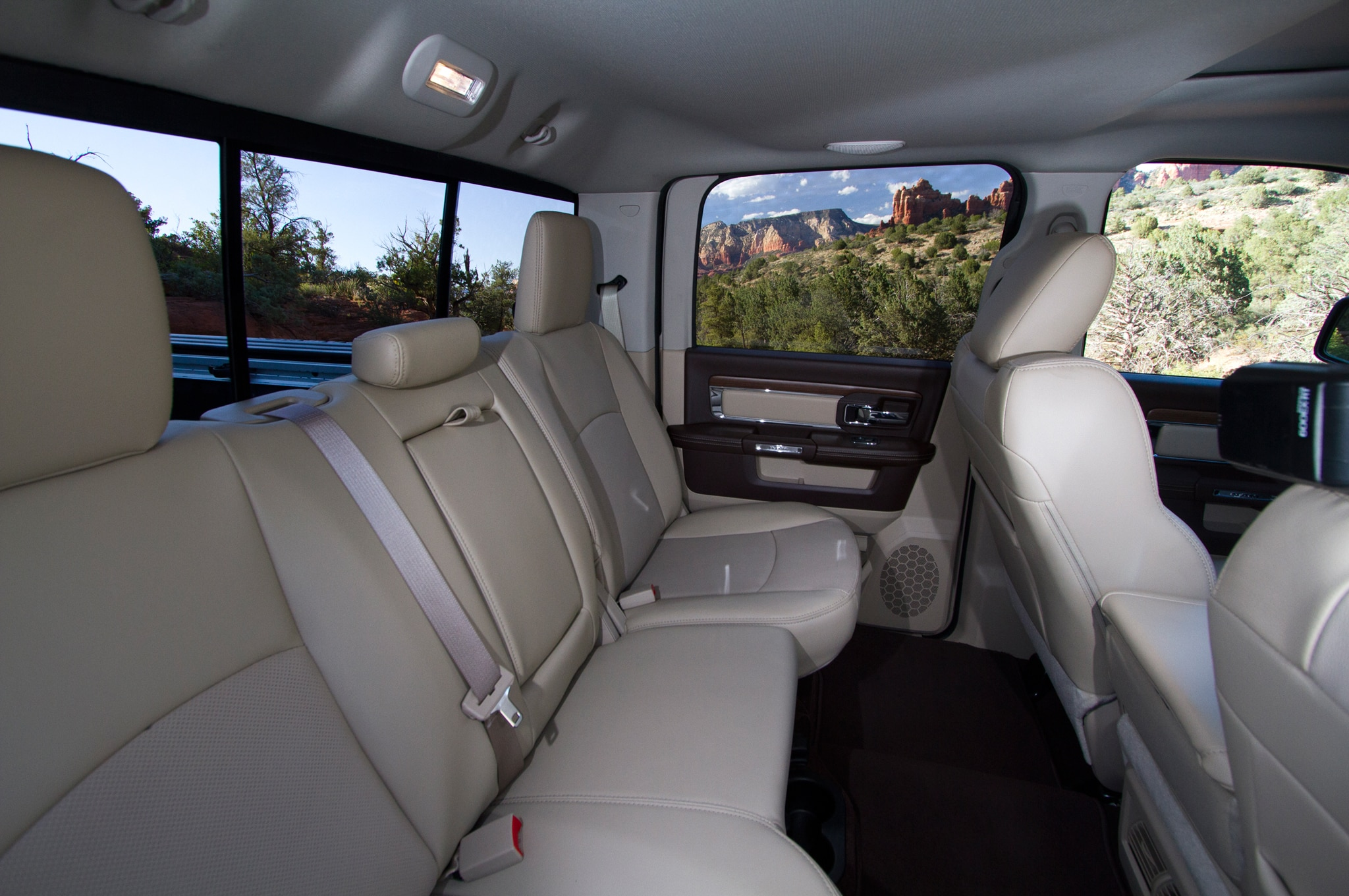 2014 Ram 2500 Power Wagon rear interior seats