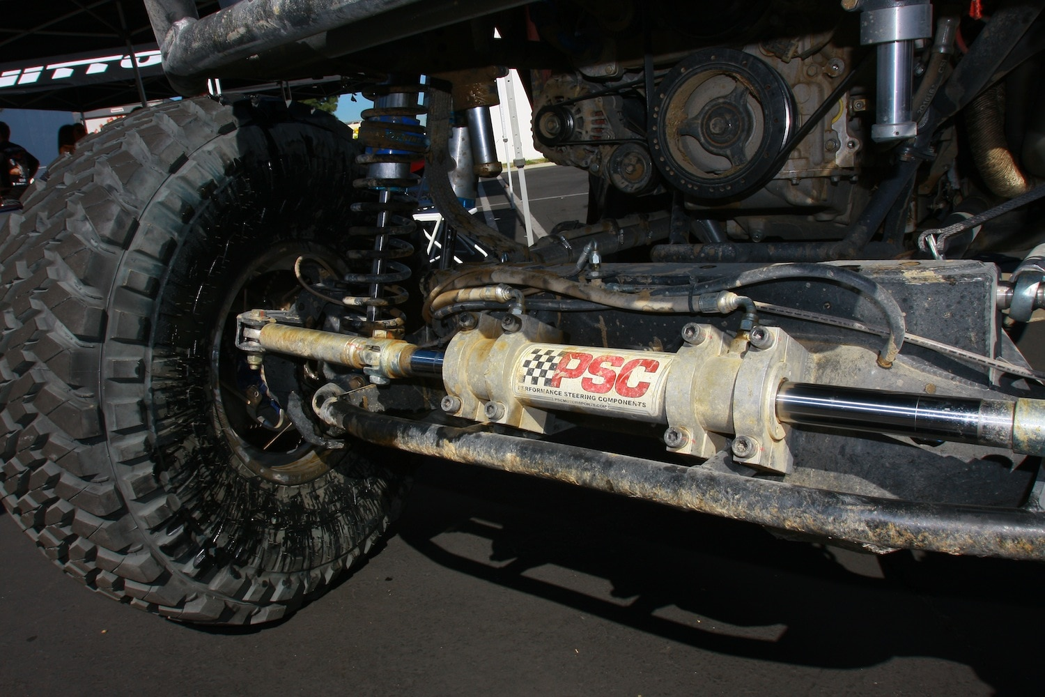 Loren Healy King of The Hammers 2014 Ultra4 Winner 11 PSC Hydraulic Steering Ram.JPG