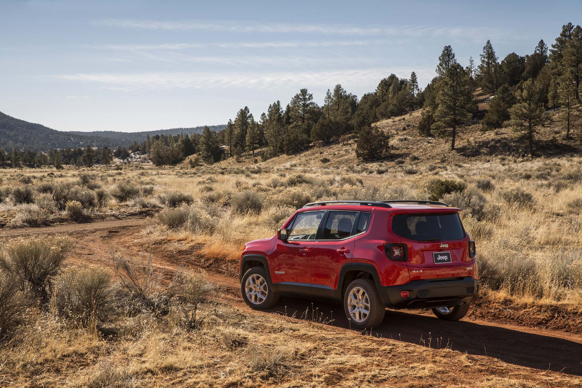 2015 Jeep Renegade Latitude rear three quarters 03