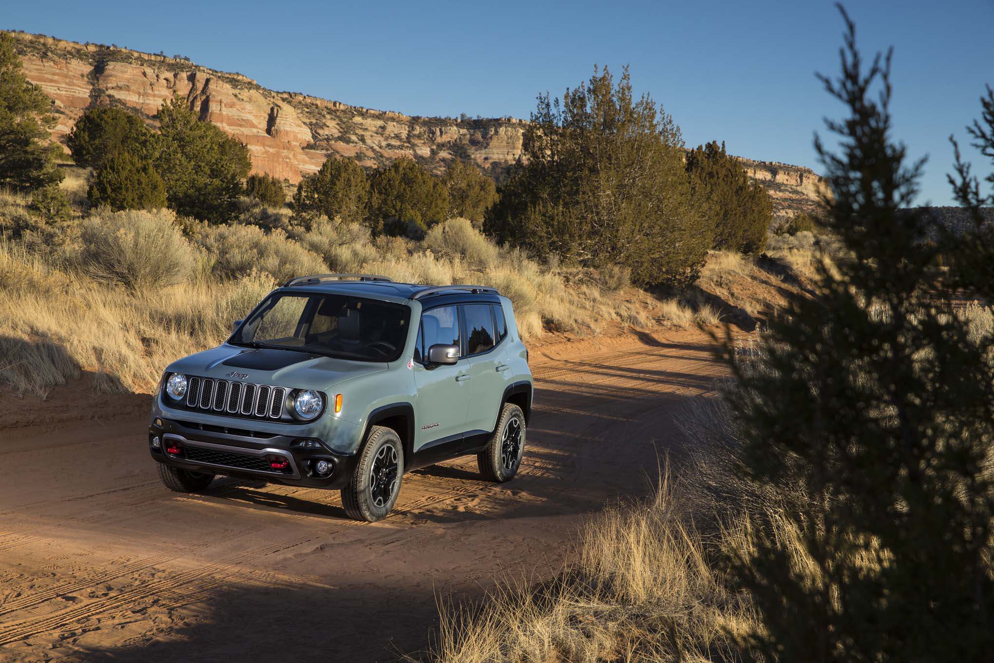2015 Jeep Renegade Trailhawk front three quarters 05
