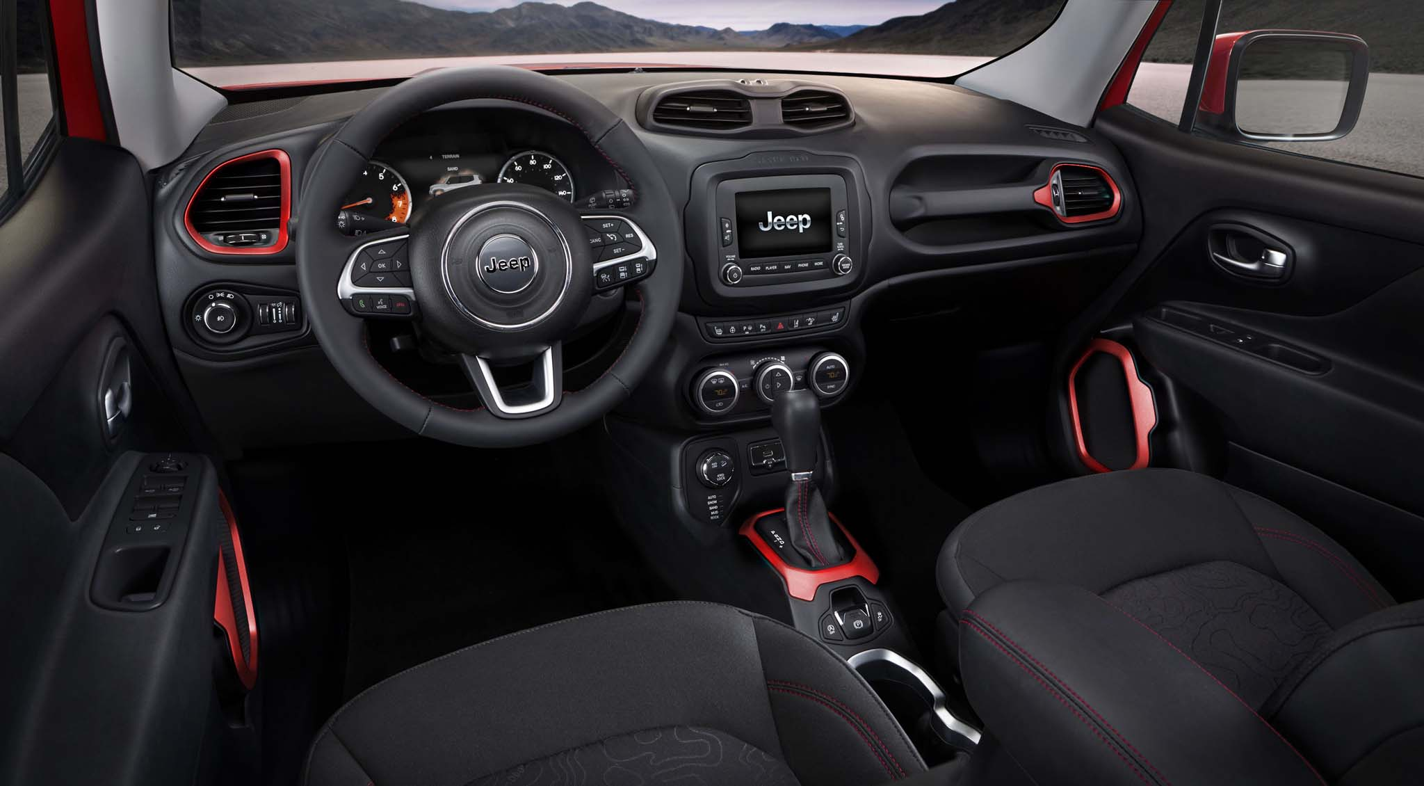 2015 Jeep Renegade Trailhawk interior view