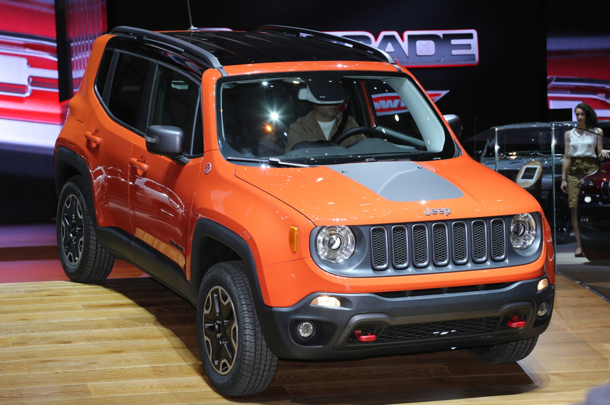 2015 Jeep Renegade Trailhawk show floor on stage