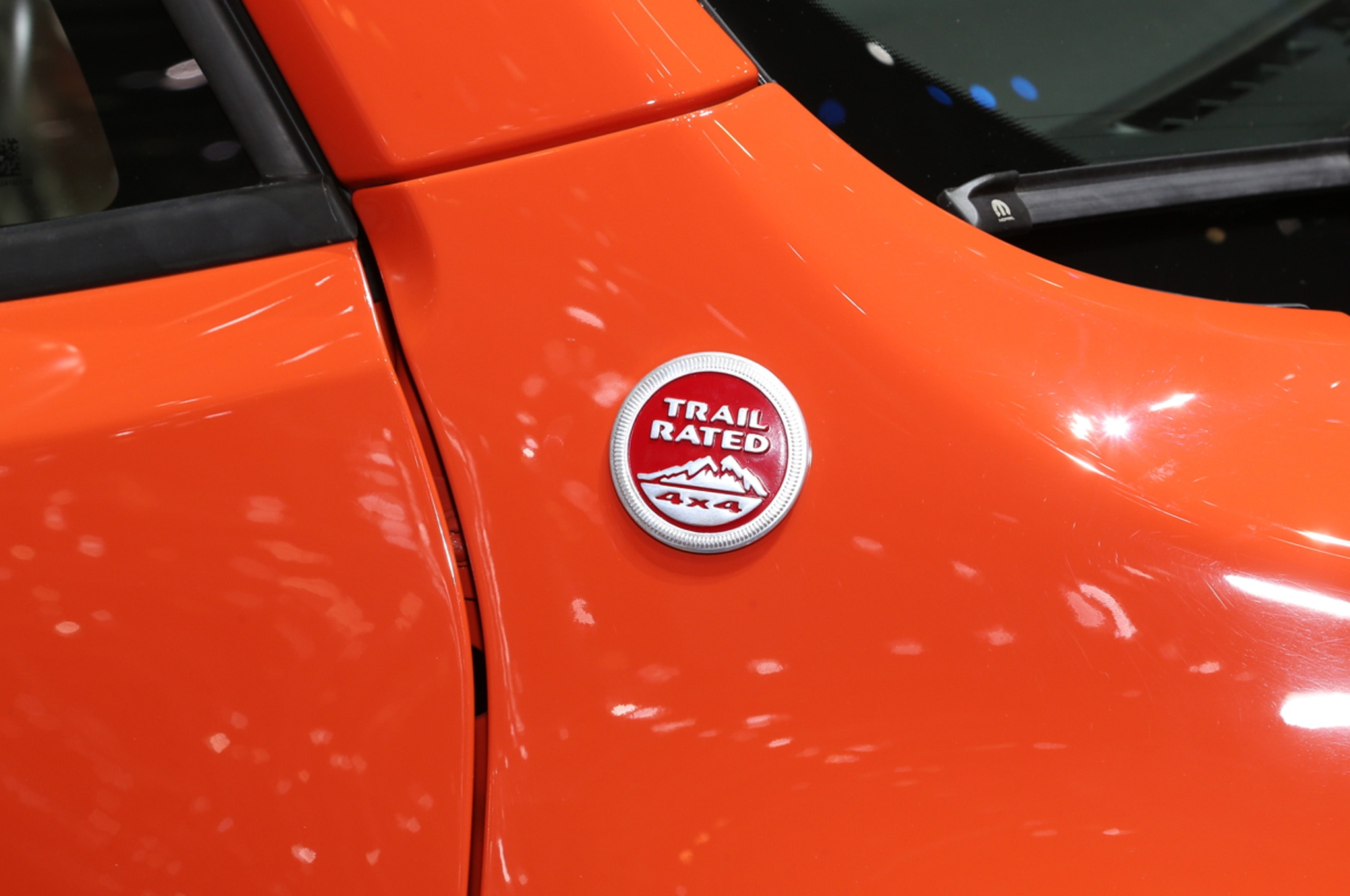 2015 Jeep Renegade Trailhawk show floor trail rated badge