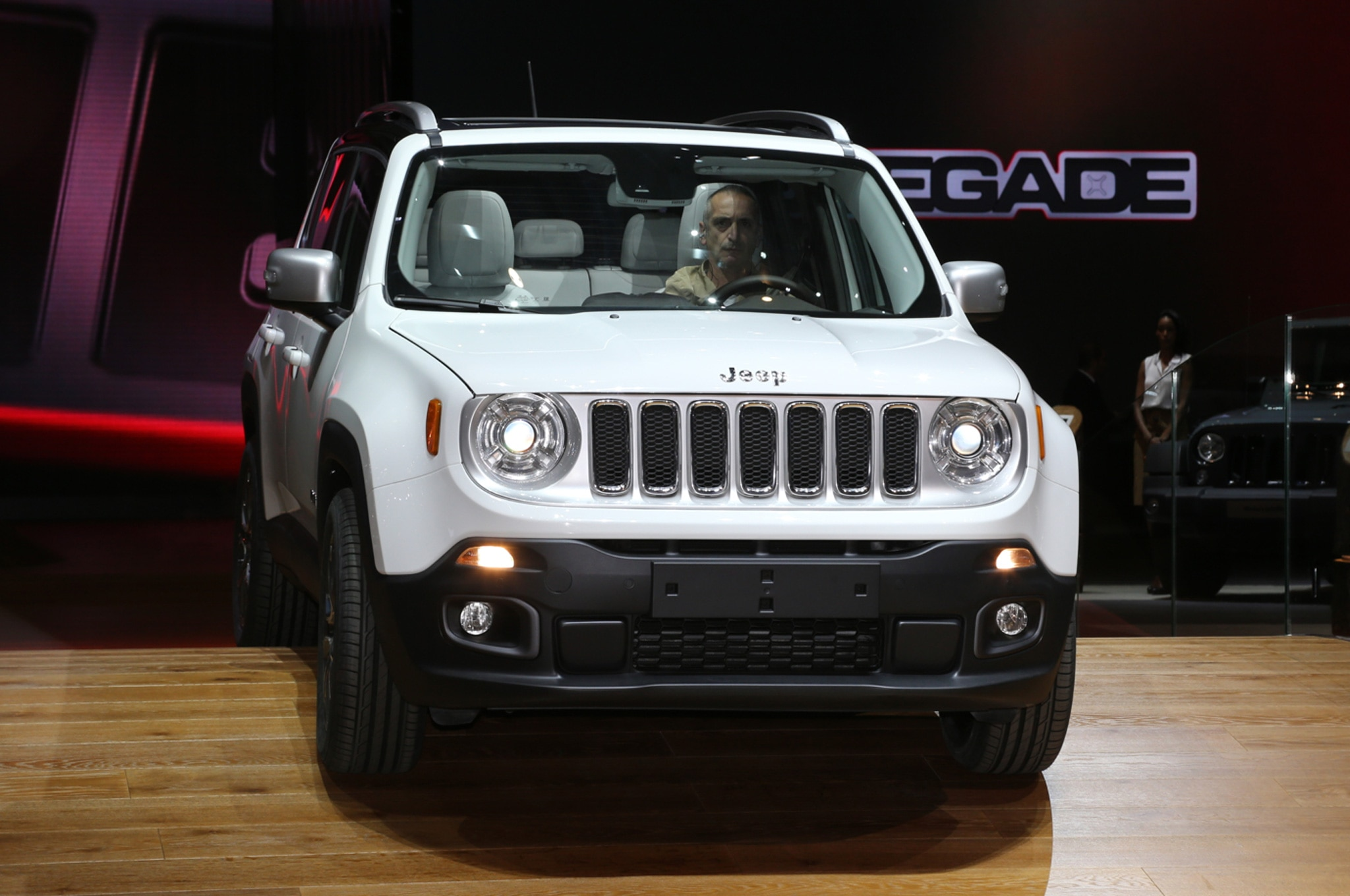 2015 Jeep Renegade Limited on stage