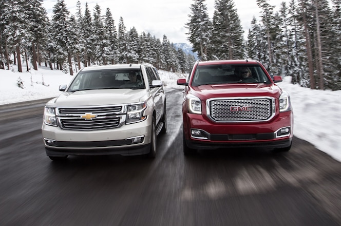 Driving the New 2015 GMC Yukon and Chevy Tahoe/Suburban SUVs