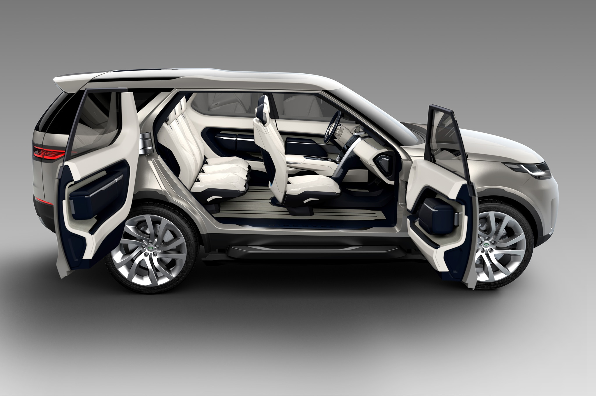 Land Rover Discovery Vision Concept side view doors open