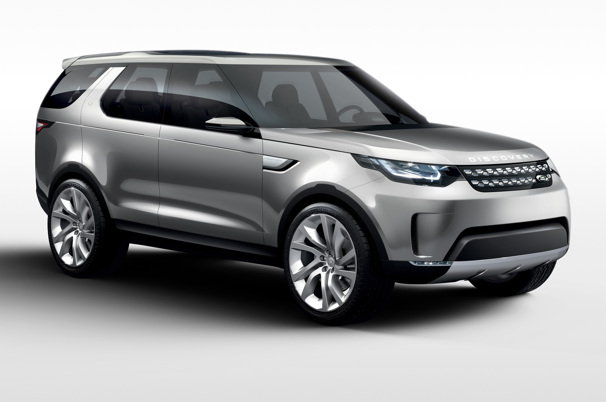 Land Rover Discovery Vision Concept front side view white background