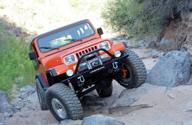 1987 Jeep Wrangler Laredo - Solid Orange