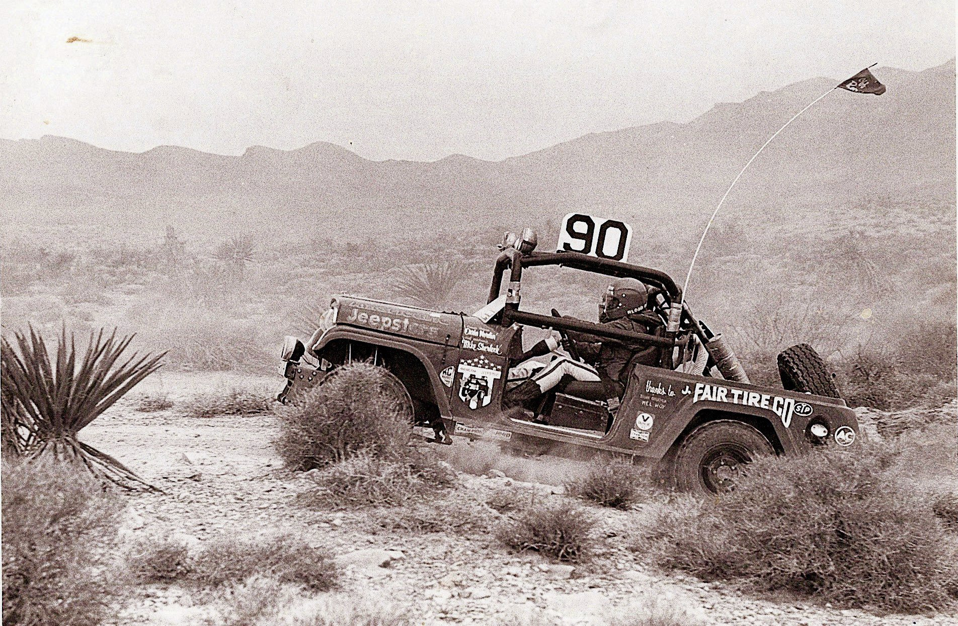 Jeep at the Parker 400 in 1972