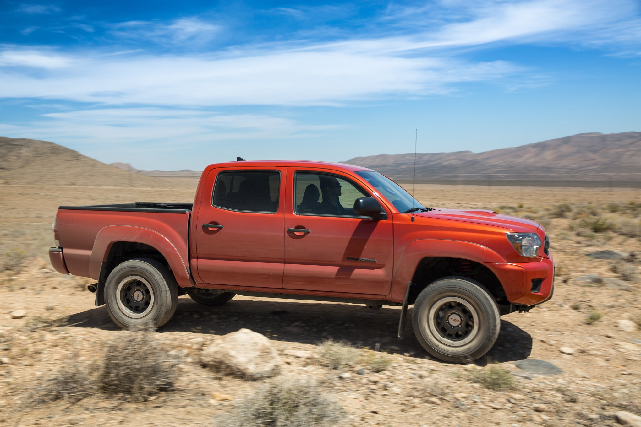 2015 Toyota Tacoma TRD Pro side in motion