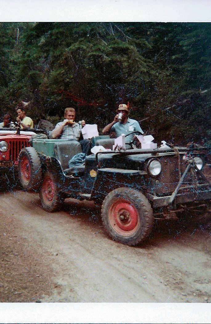 1946 jeep cj 2a on rubicon trail
