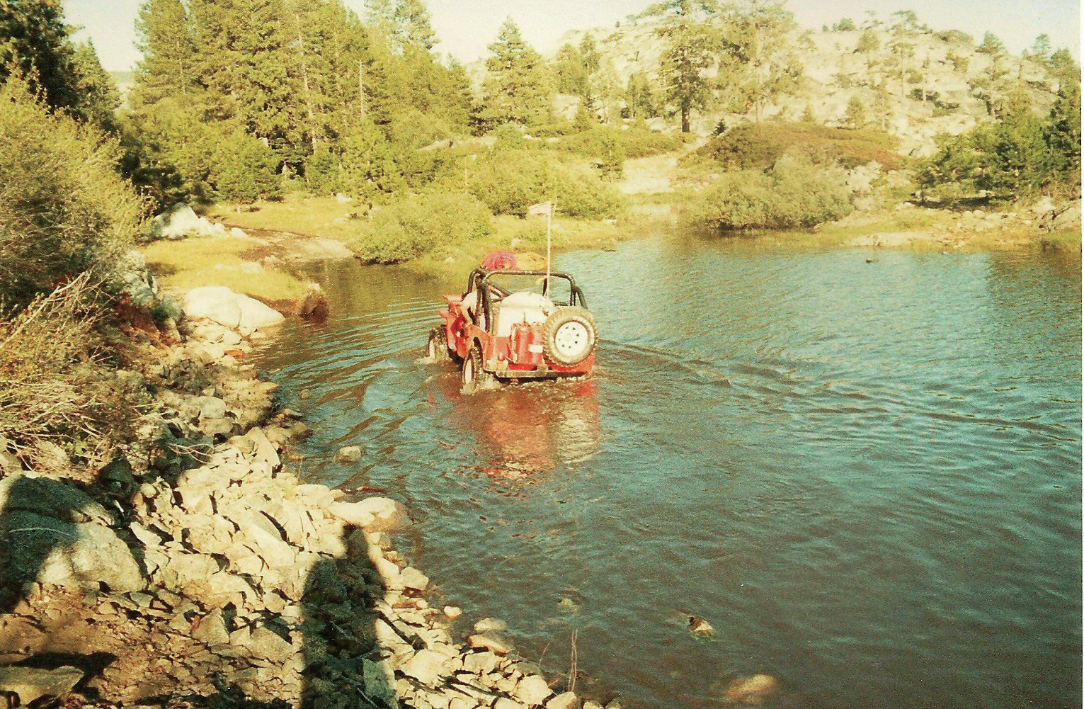 1946 jeep cj 2a crossing water