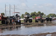 group of mud trucks