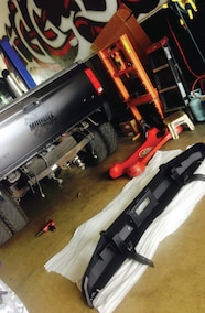 road armor rear bumper ready to install