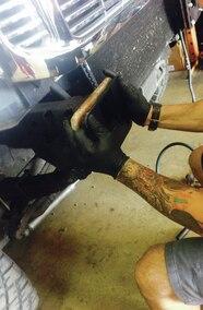 road armor bumper bracket install