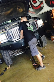 checking front bumper fittment