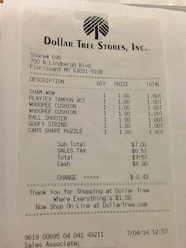 Ultimate Adventure 2014 Day 7 Dollar Store Purchase Reciept.JPG