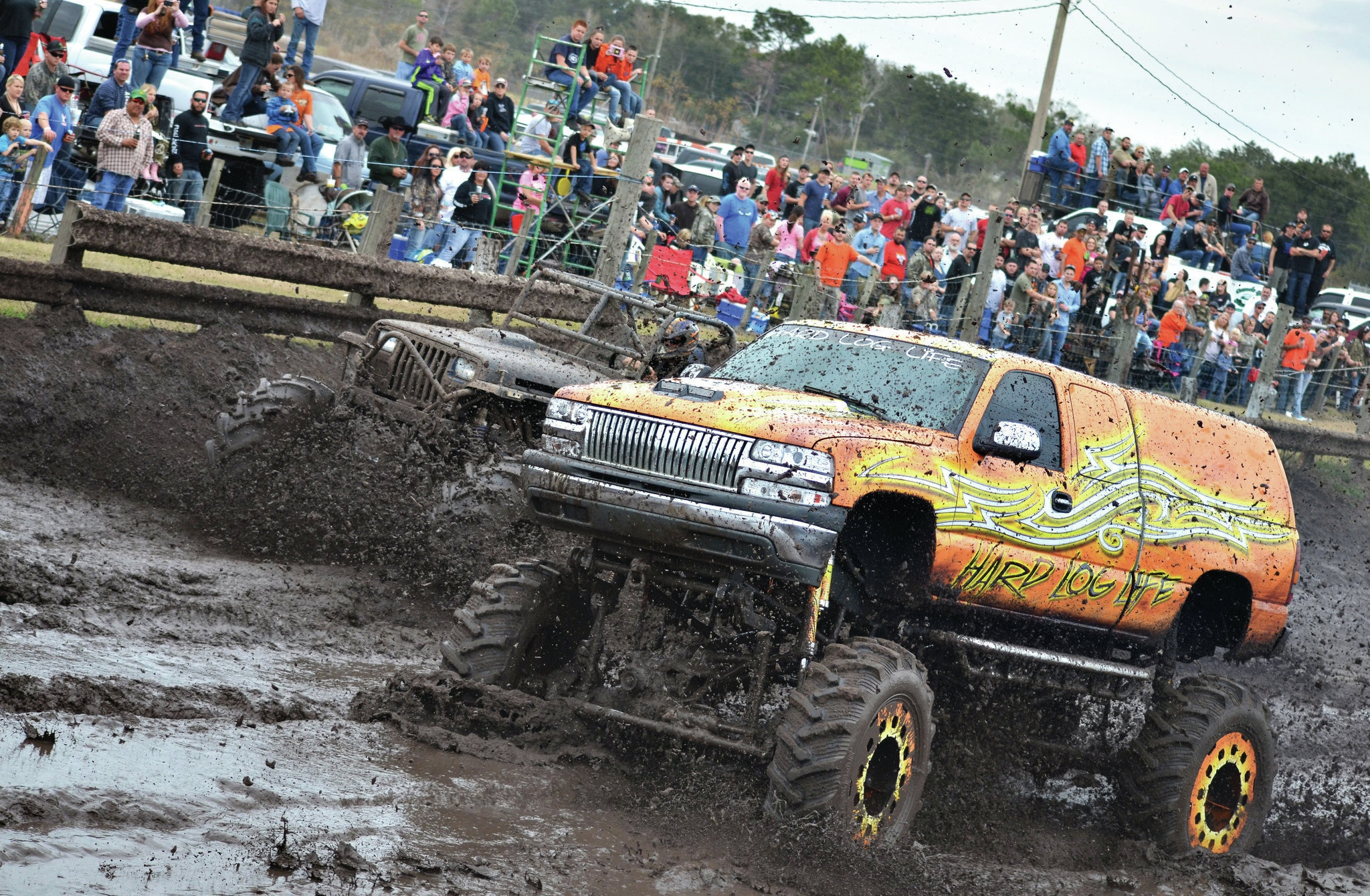 chevy silverado mud truck hard log life