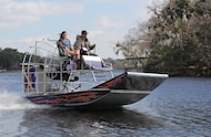 driving airboat