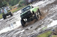 1995 ford ranger mud truck in mud pit
