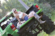 hot mud girl on tailgate