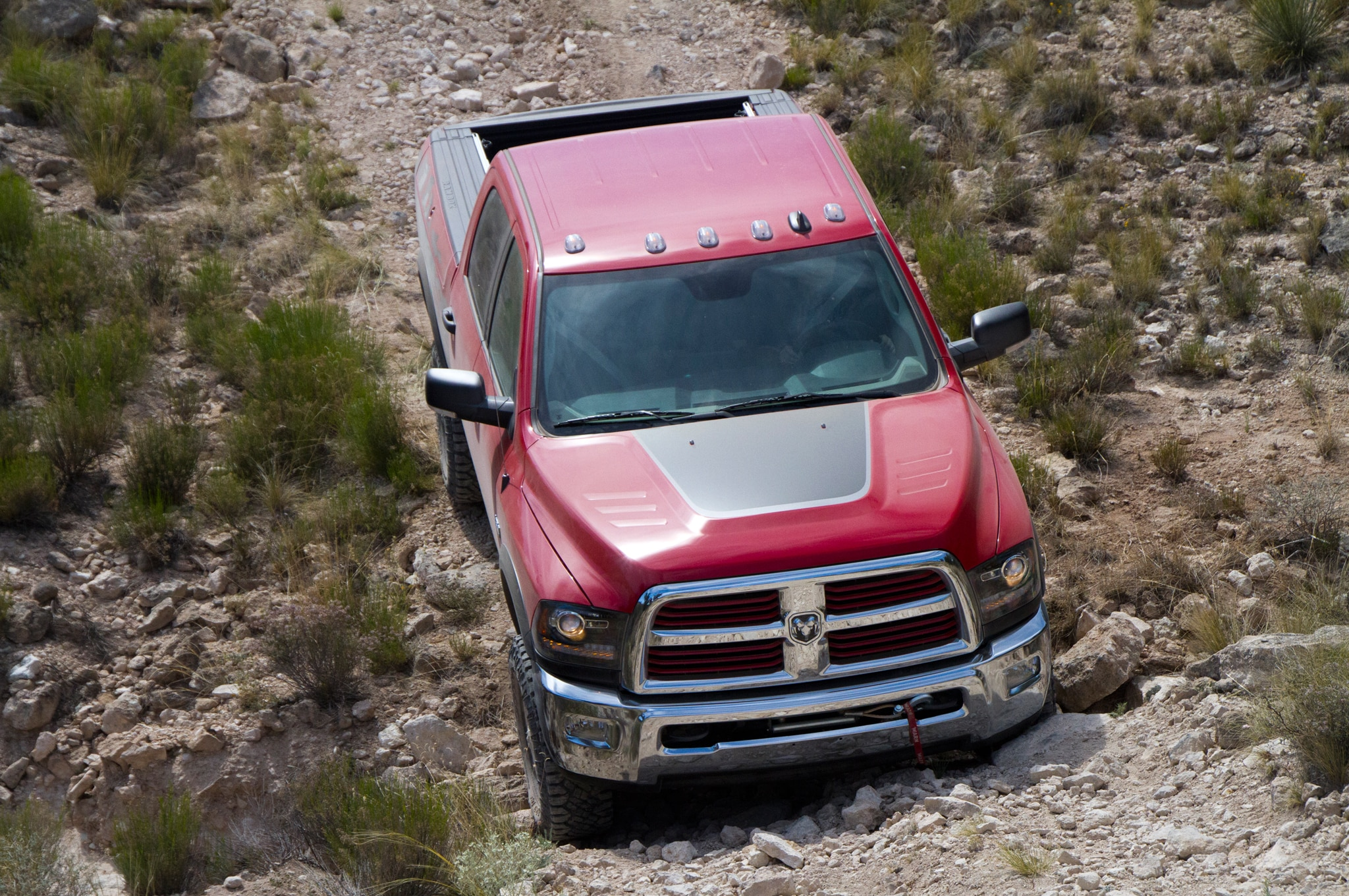 2014 Ram 2500 Power Wagon top view front end