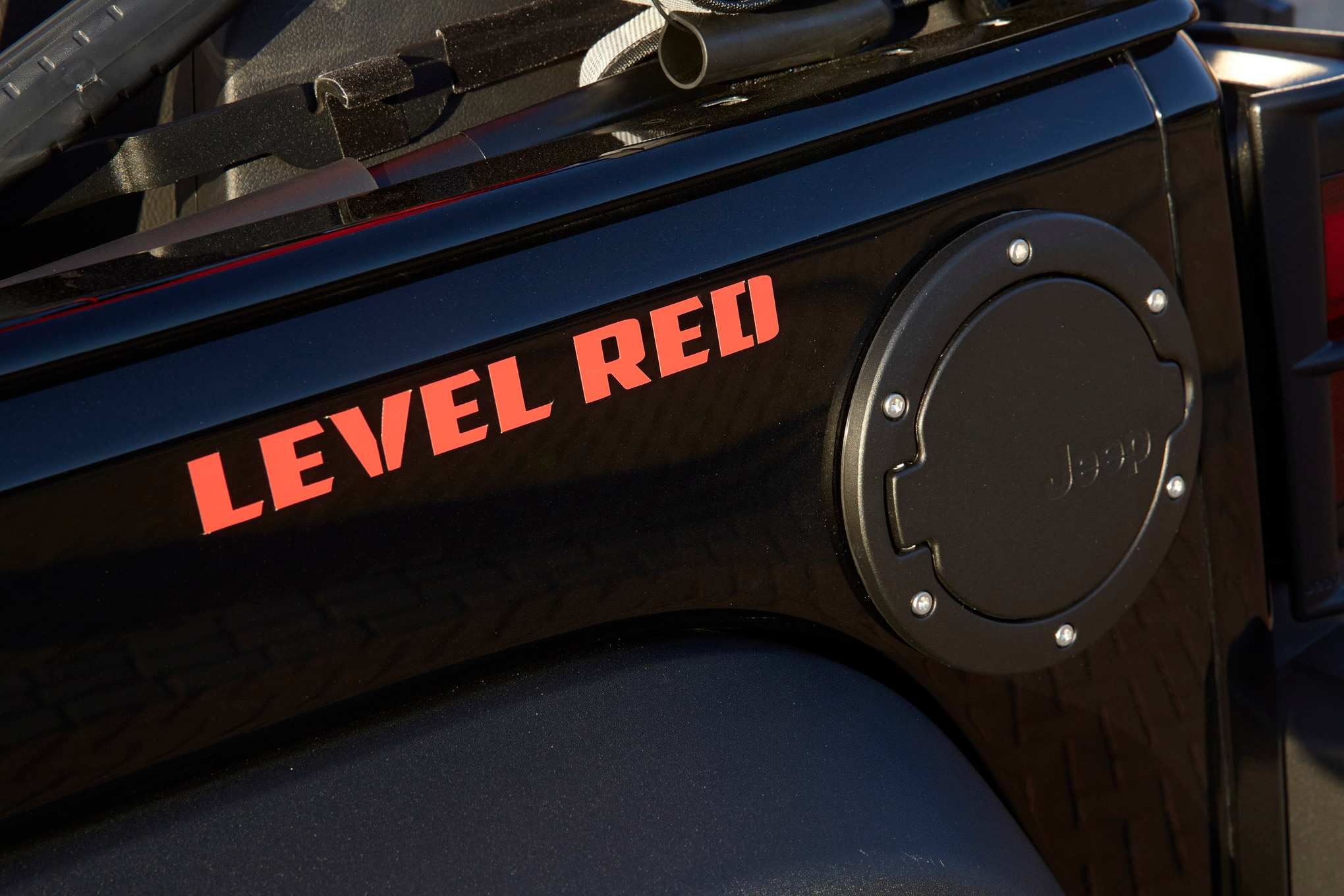 Jeep Wrangler Level Red Concept fuel cap
