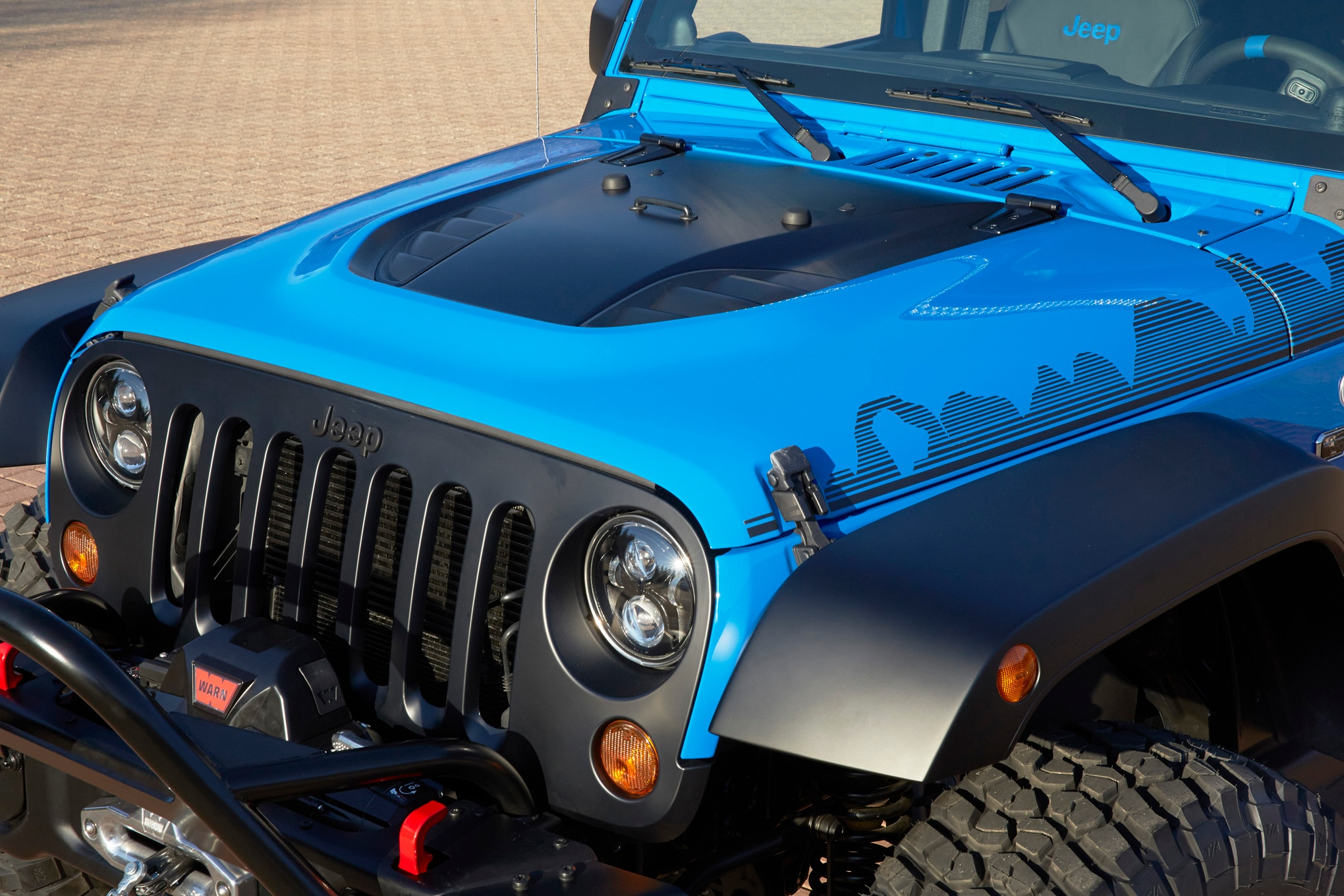 Jeep Wrangler Maximum Performance Concept front end