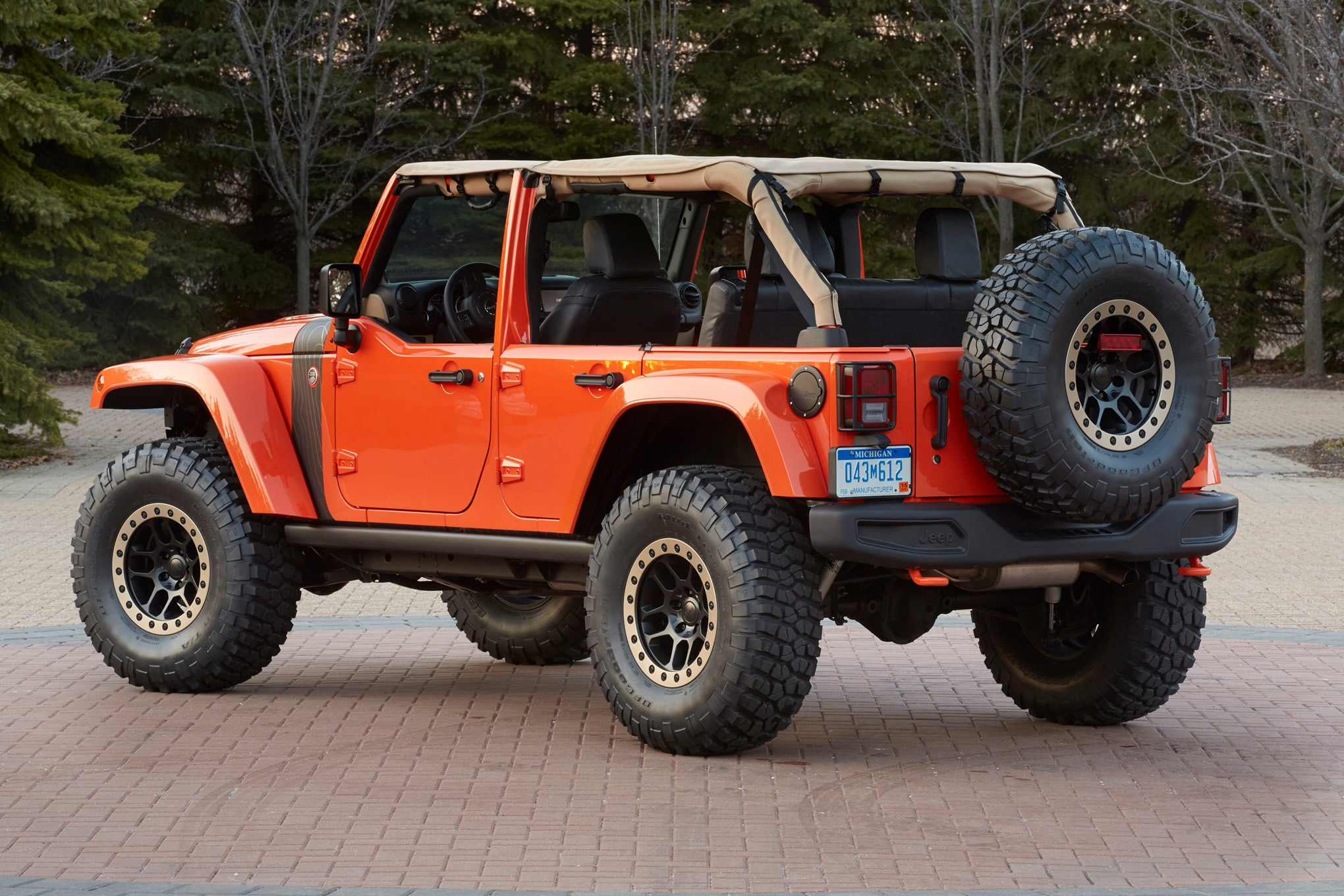 Jeep Wrangler MOJO Concept rear three quarterse