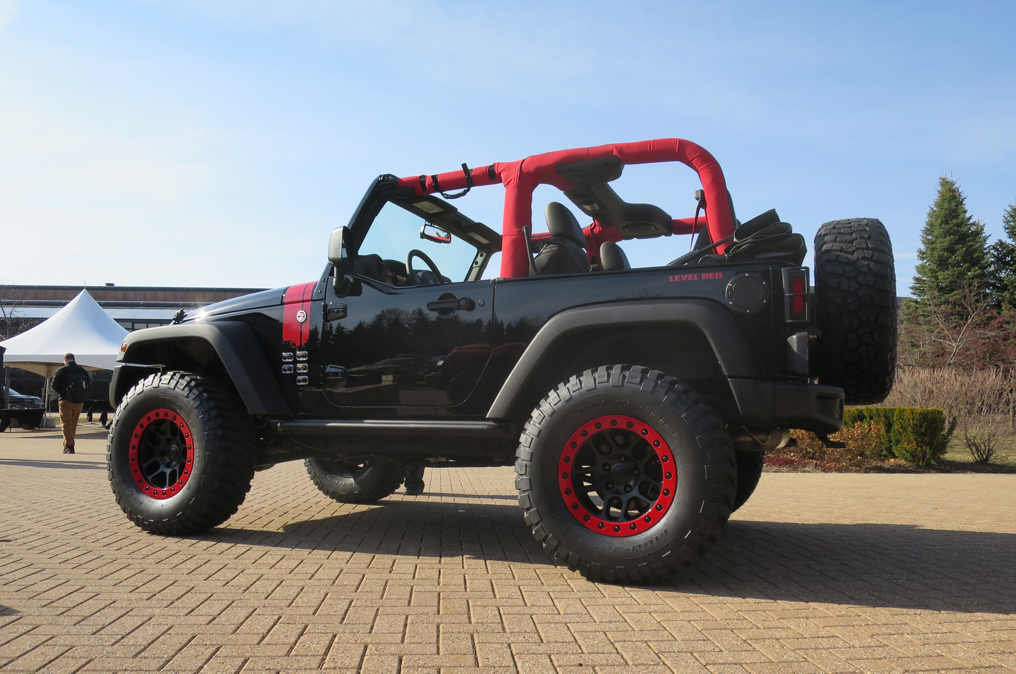 Jeep Wrangler Level Red Concept rear three quarters
