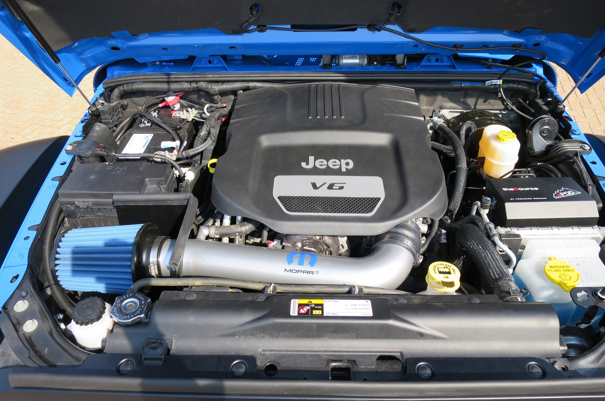 Jeep Wrangler Maximum Performance Concept engine