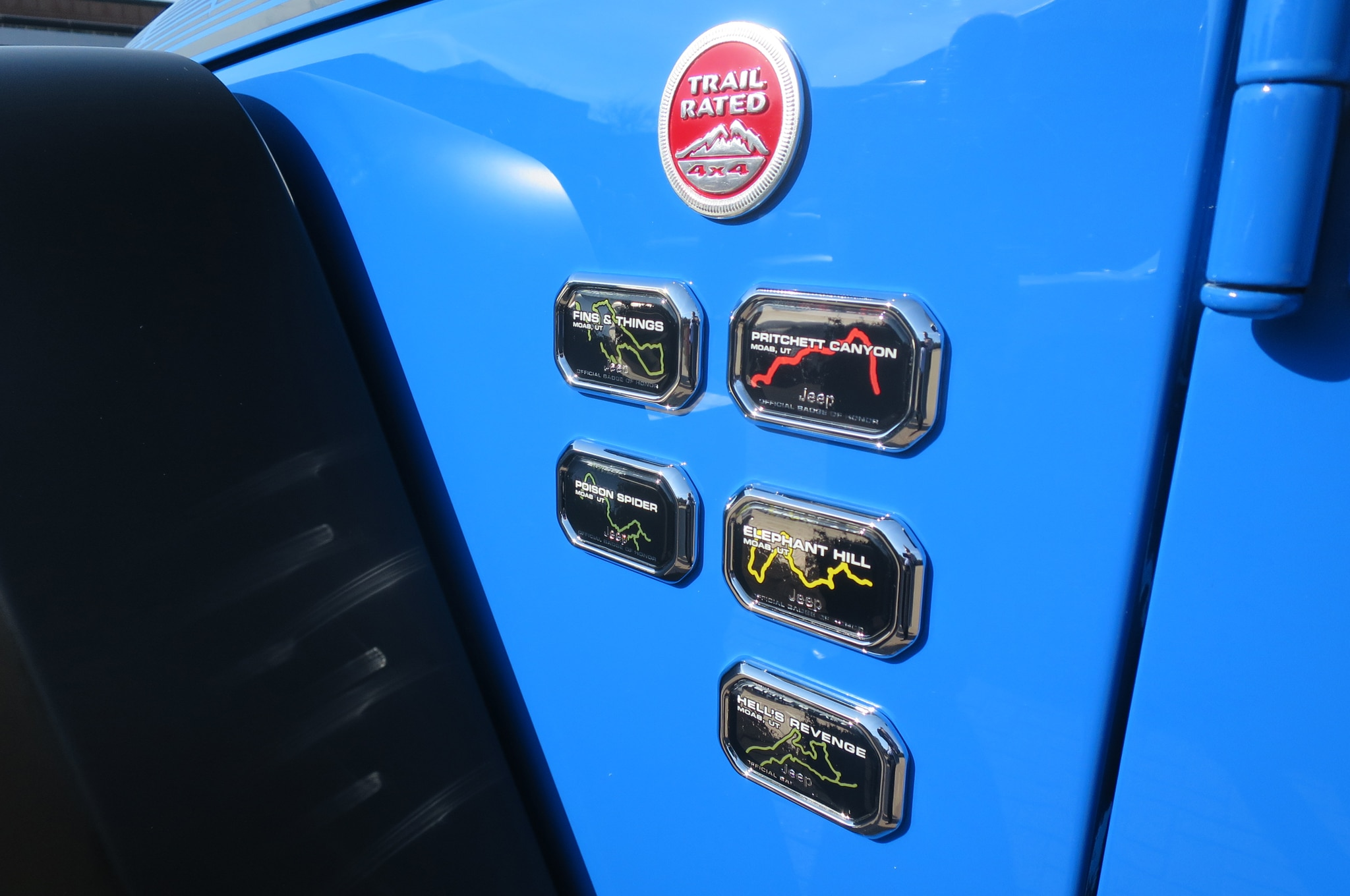 Jeep Wrangler Maximum Performance Concept badges