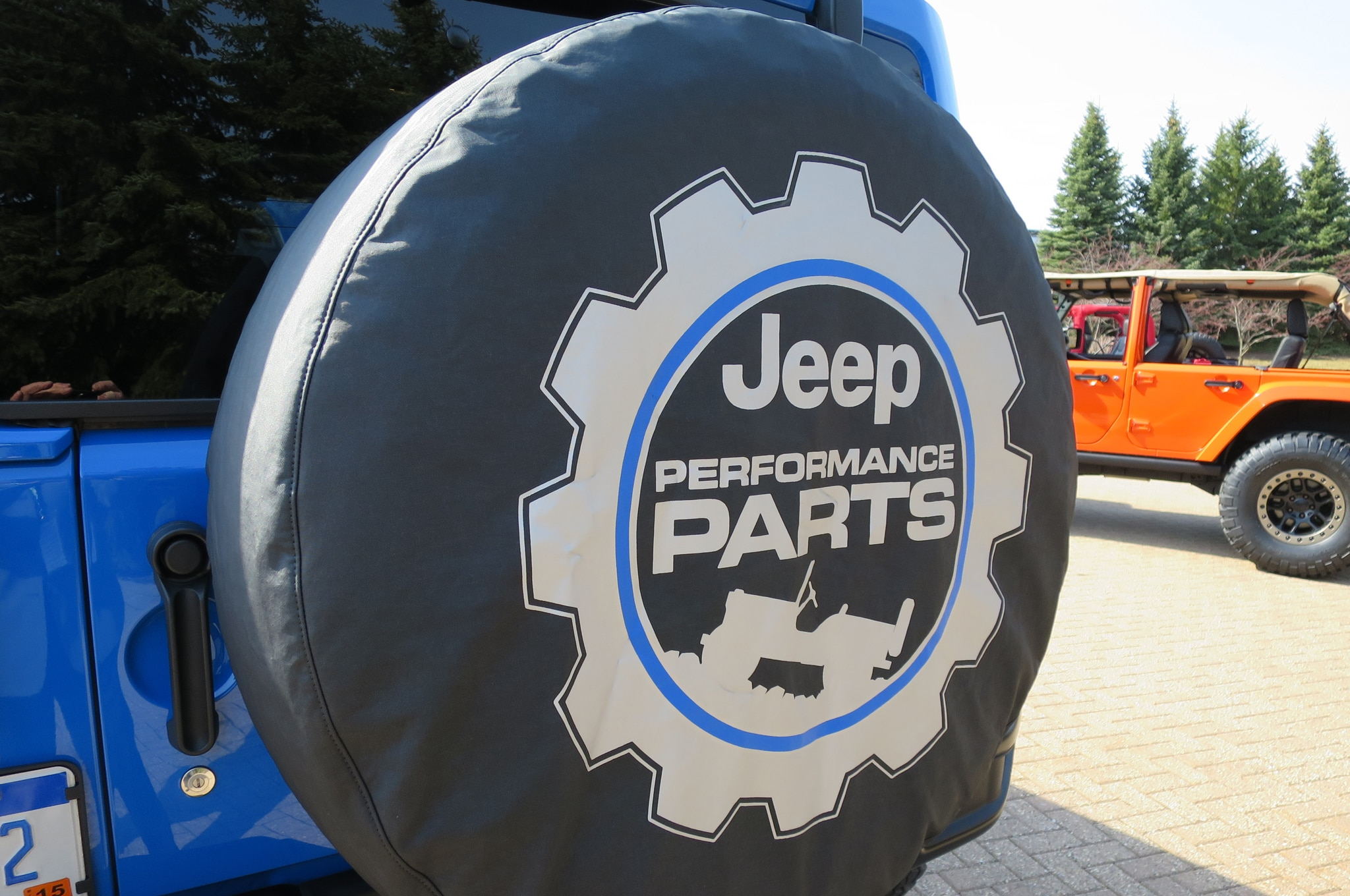Jeep Wrangler Maximum Performance Concept spare tire