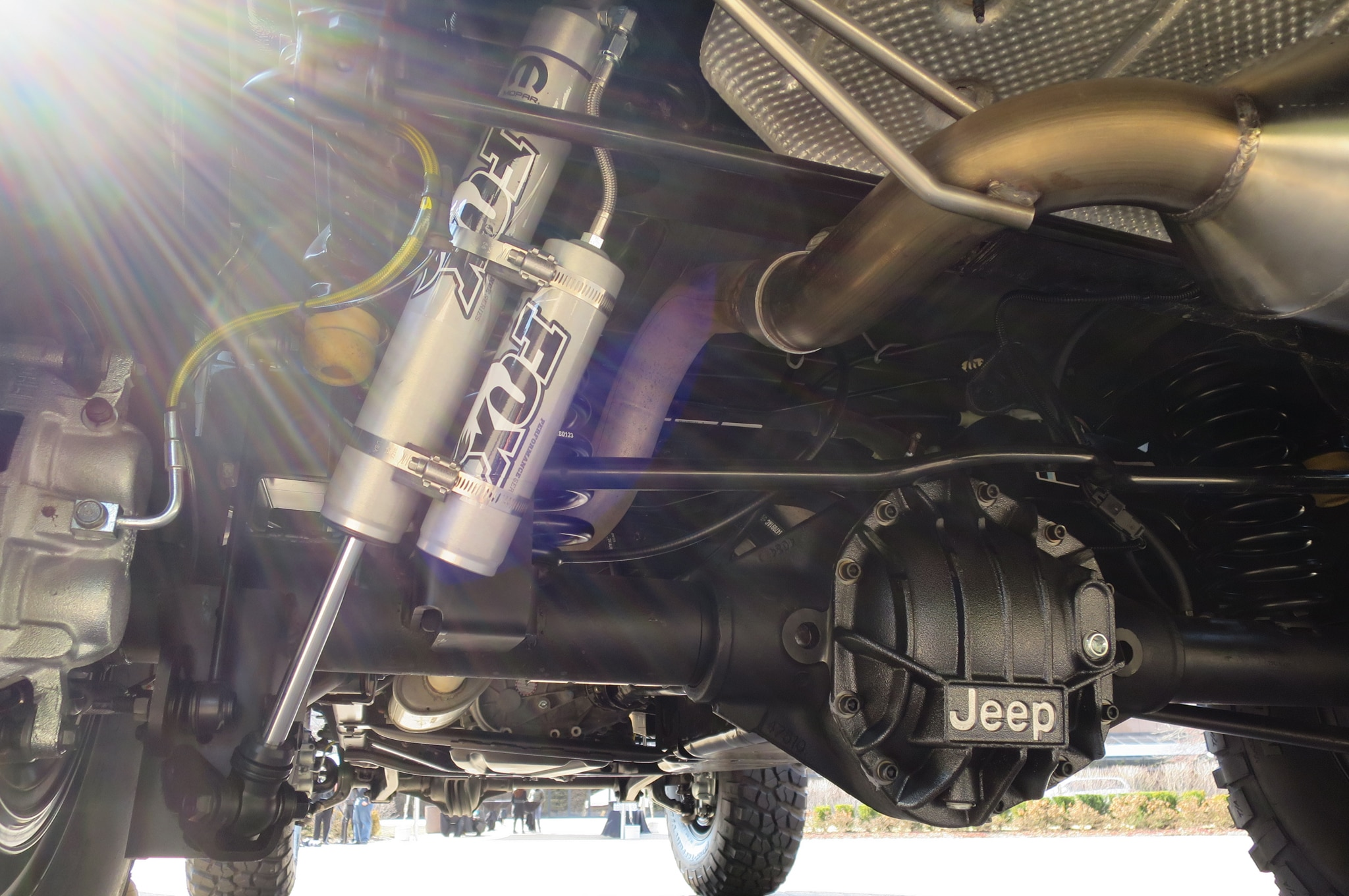 Jeep Wrangler Maximum Performance Concept shocks axle