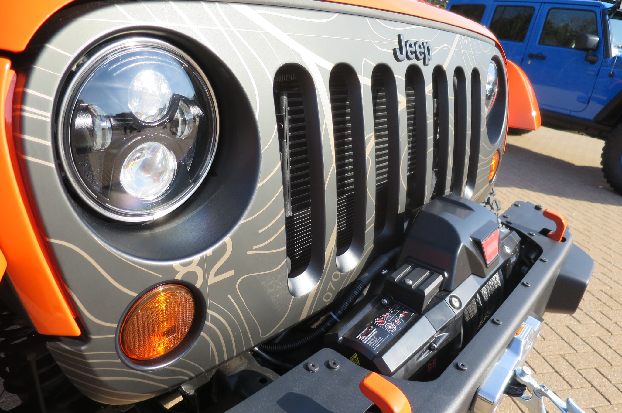 Jeep Wrangler MOJO Concept headlamp