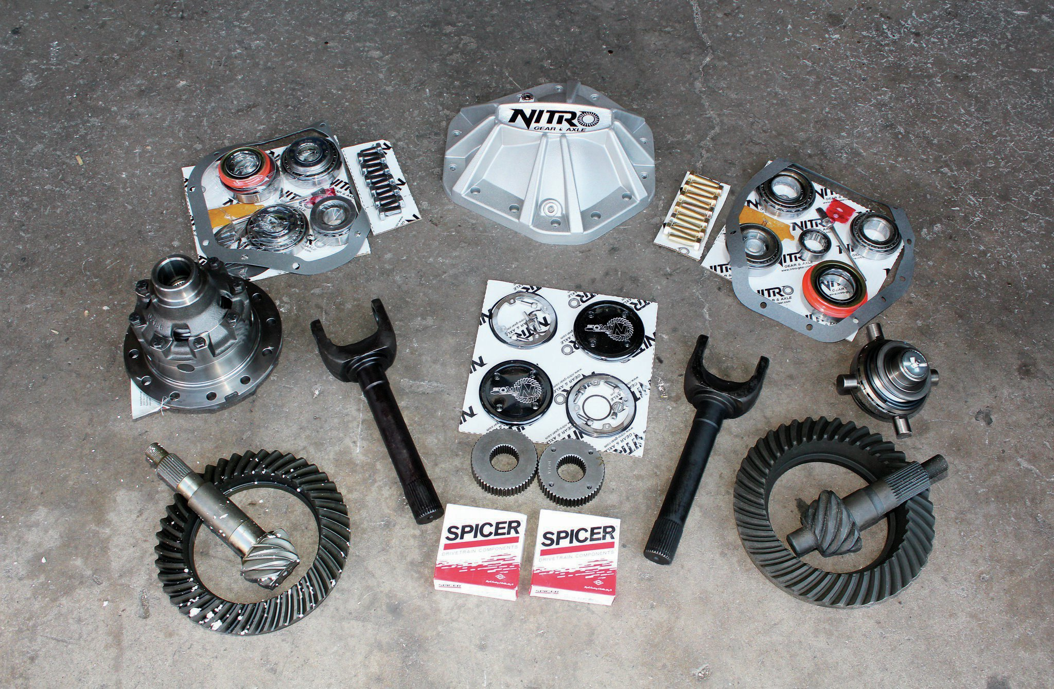 diff gears with cover and bearings