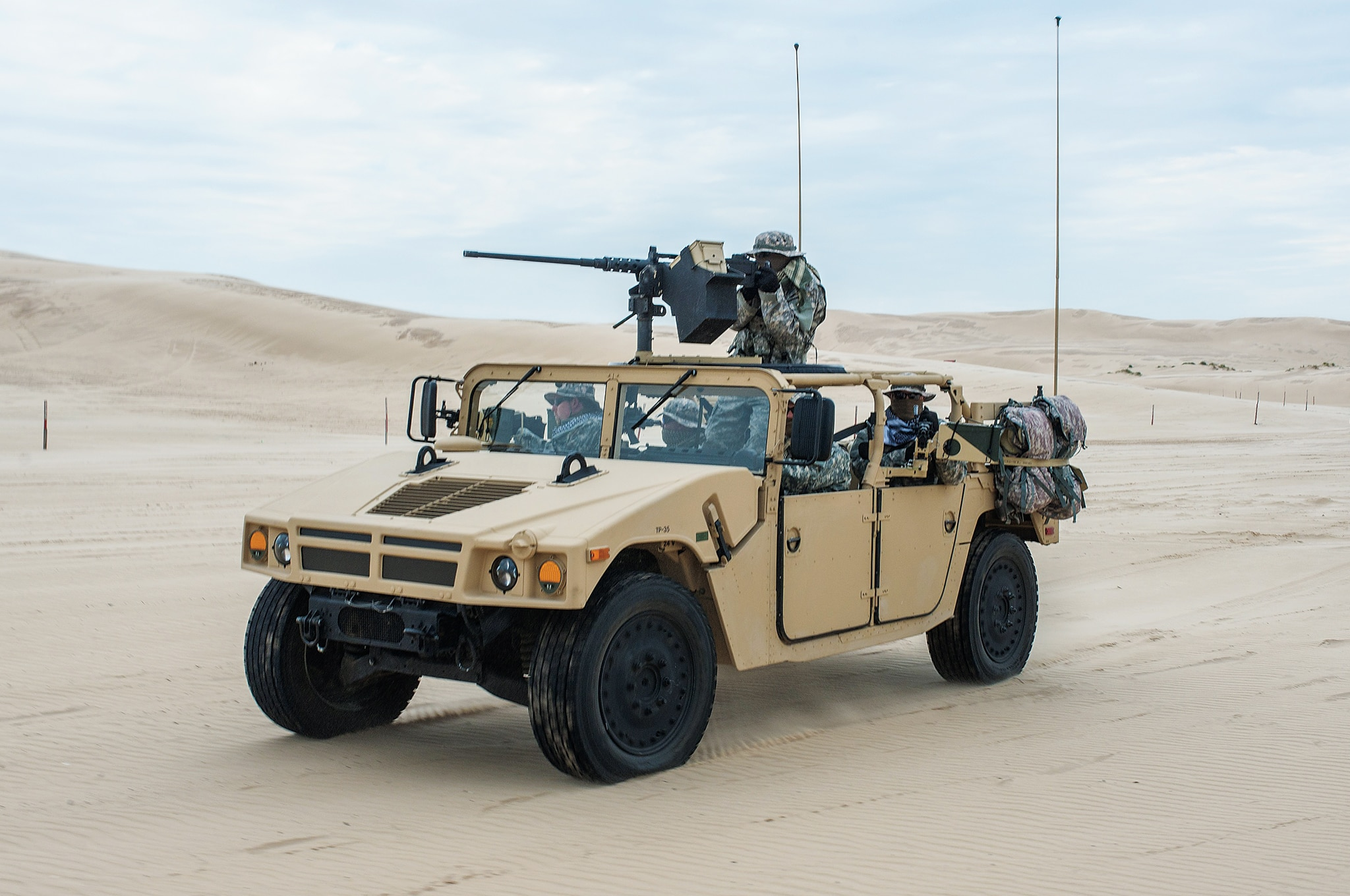 High Mobility Multipurpose Wheeled Vehicle front three quarter