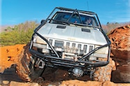 1994 Jeep Grand Cherokee in motion front view