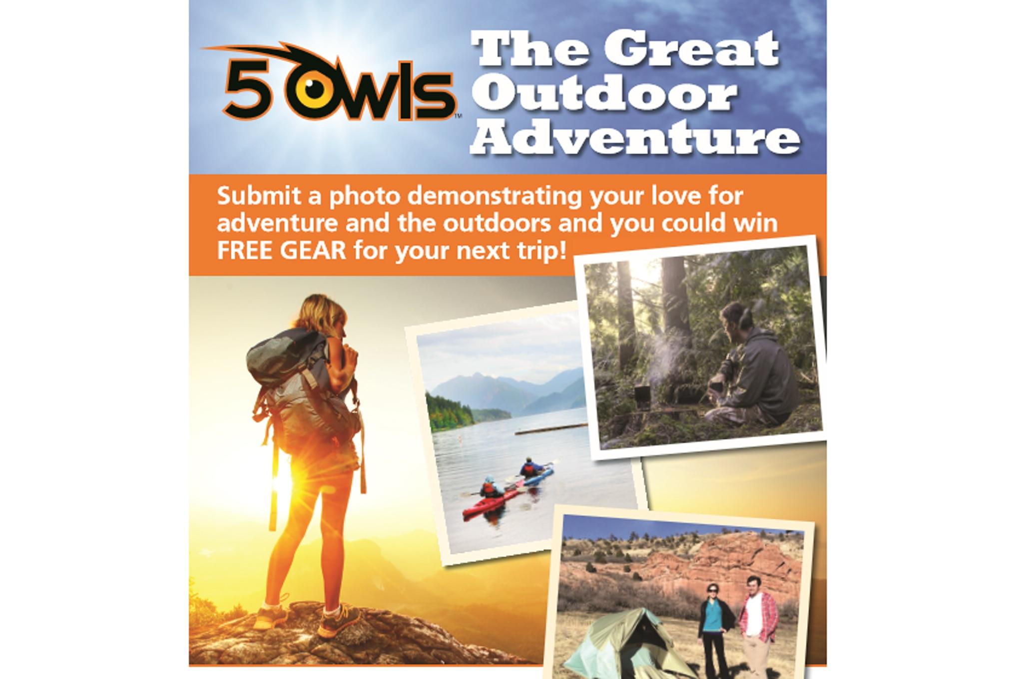 5 Owls Outdoor Adventure Photo Contest