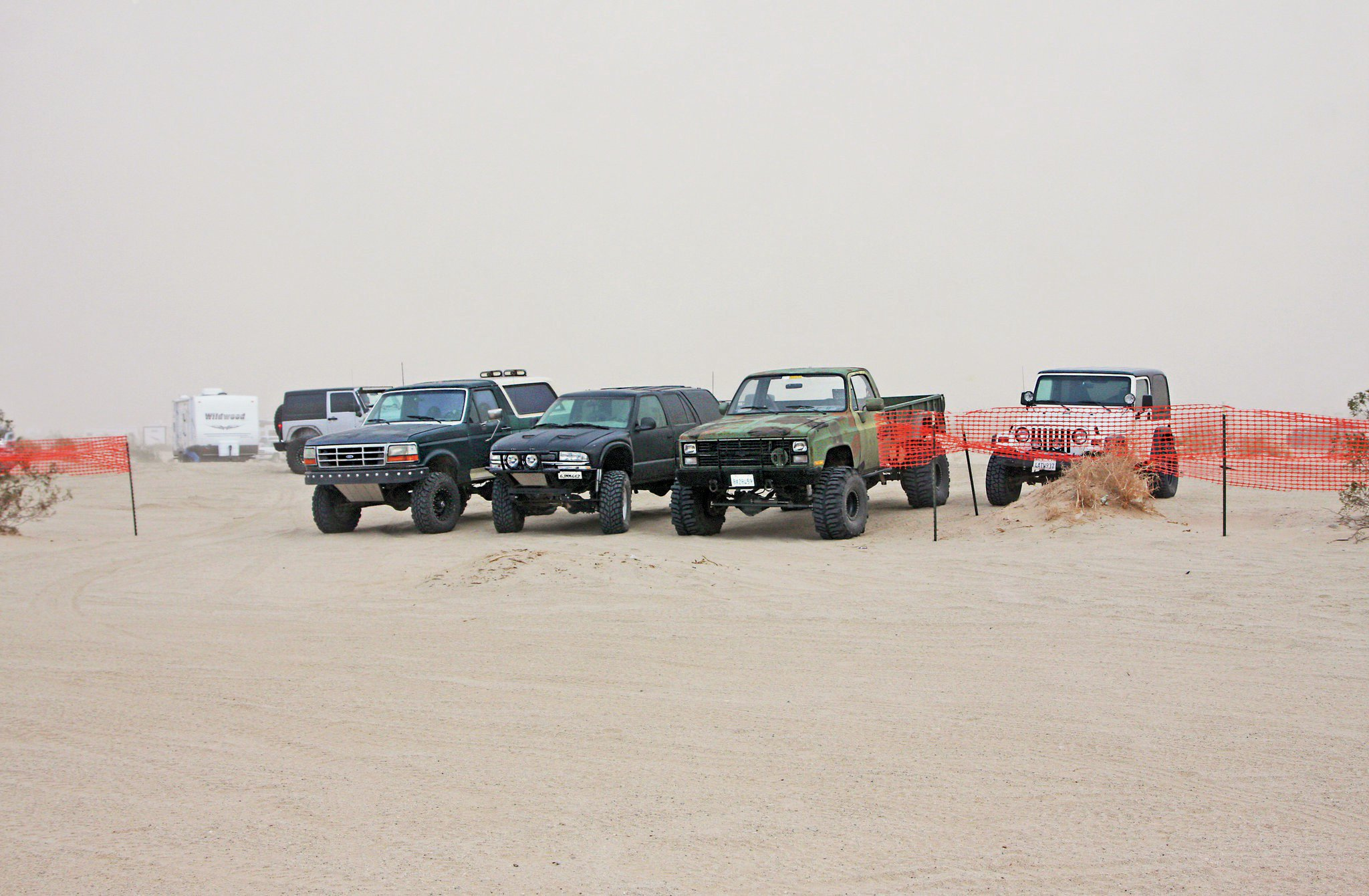Jeeps at Ocotillo Wells