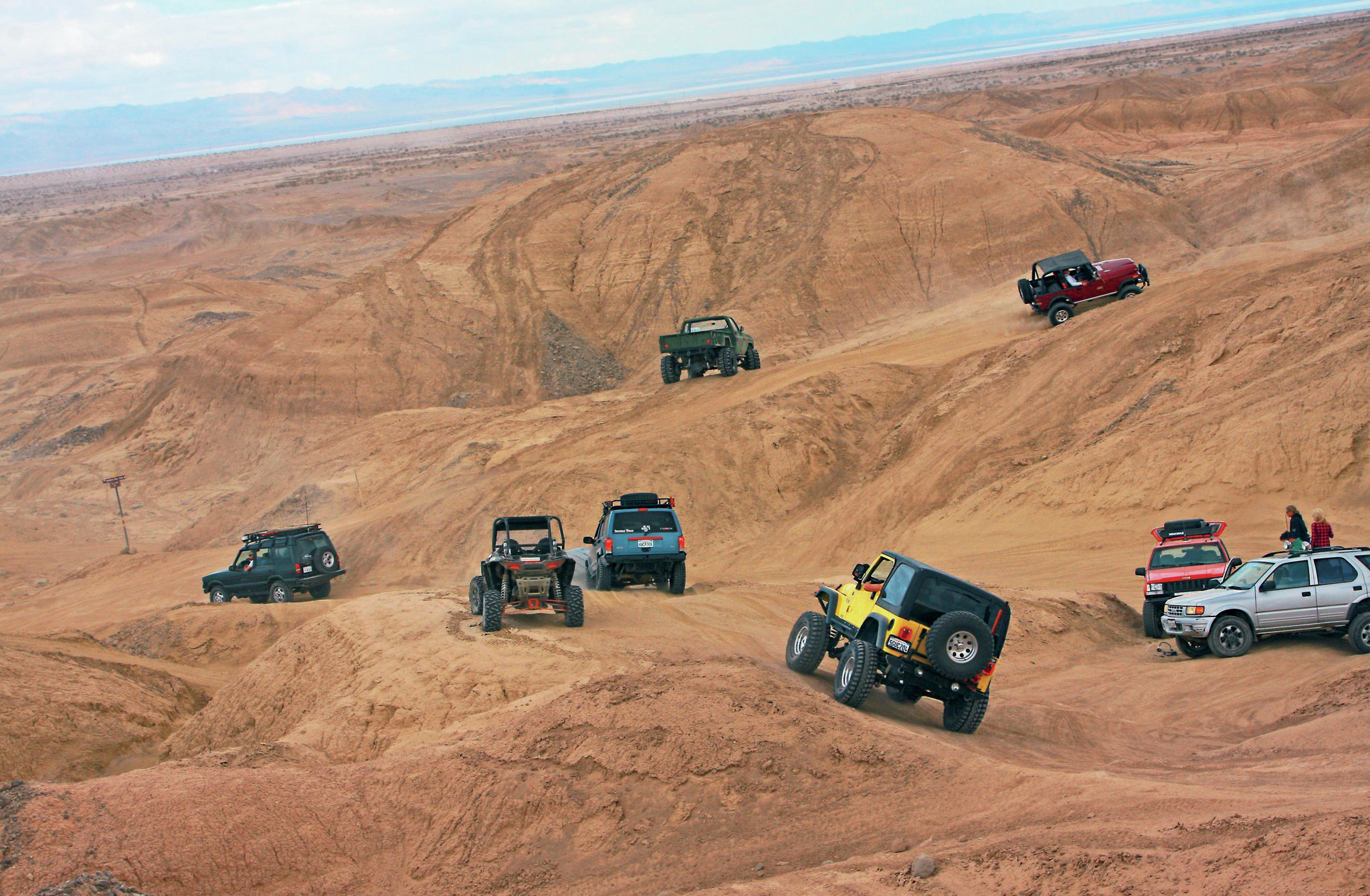 Jeeps at the trails